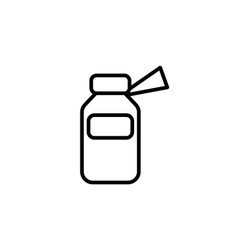 medicine bottle line icon vector image