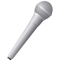 modern wireless microphone vector image