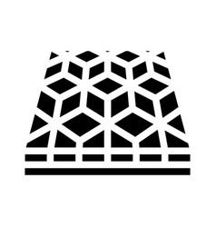 Mosaic floor glyph icon vector
