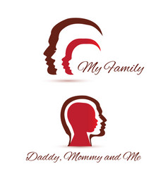 my family icons vector image