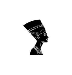 nefertiti icon black on white background vector image