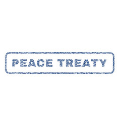 Peace treaty textile stamp vector