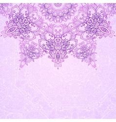 Pink ornate vintage wedding card background vector