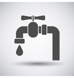 Pipe with valve icon vector image vector image