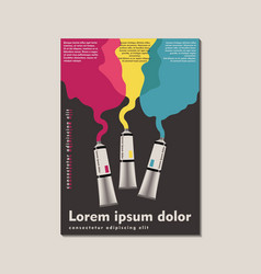 Poster in style postmodernism a tube vector
