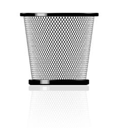 realistic glossy trash vector image