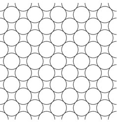 repeating abstract monochrome circle grid pattern vector image