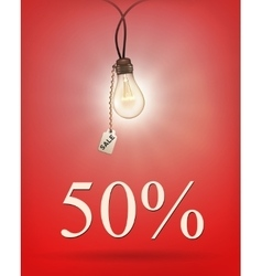Sale background with lamp vector image