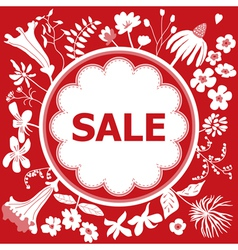 Sale red design template vector image