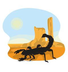Scorpion in the desert vector