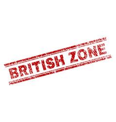 Scratched textured british zone stamp seal vector