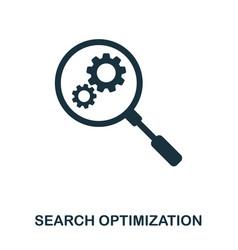 Search optimization icon line style icon design vector