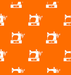 sewing machine pattern seamless vector image
