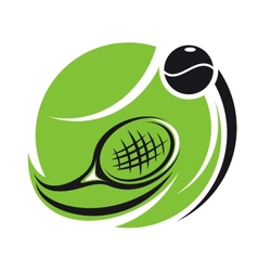 Stylized tennis icon vector