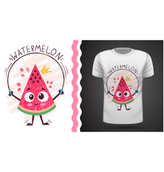 sweet watermelon - idea for print t-shirt vector image