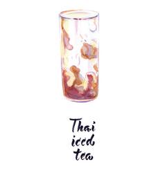 Thai iced tea vector