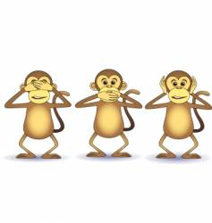 three wishes monkey vector image