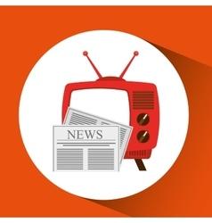 Tv radio vintage news concept vector