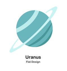Uranus flat vector