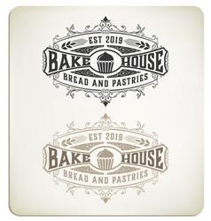 vintage bake logo vector image