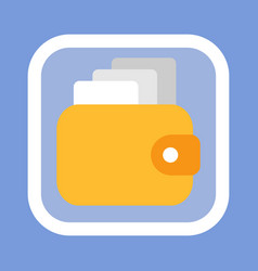 wallet with money banknotes finance earning icon vector image