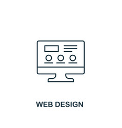 web design icon thin outline style from design ui vector image