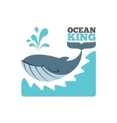 Whale logo or poster vector