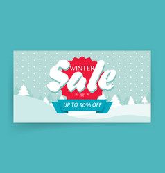 winter sale or seasonal discount banner design vector image