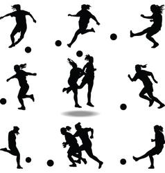Woman soccer player vector