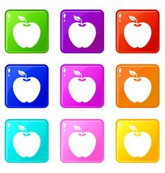 apple set 9 vector image vector image