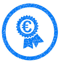 euro award seal rounded icon rubber stamp vector image vector image