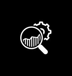 Market research icon flat design vector