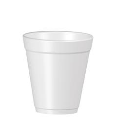 Plastic coffe cup vector image