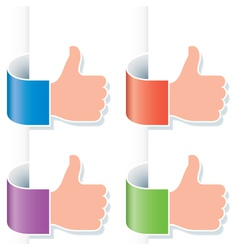 thumb up gesture vector image vector image