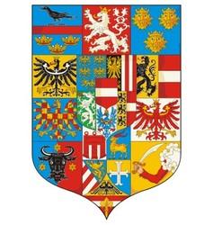 Great Coat of arms Austria 1915 Grossen Wappen vector image vector image