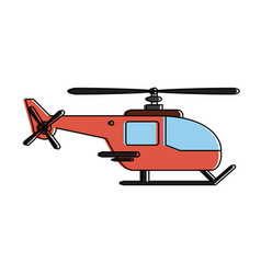 helicopter aircraft symbol vector image