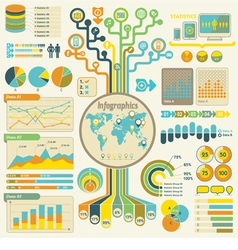 Infographics set communication technology vector