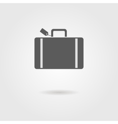 luggage icon with shadow vector image vector image