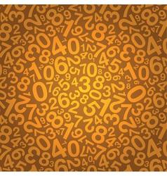 orange number background vector image vector image