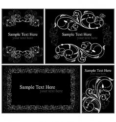 set elegance cards vector image vector image
