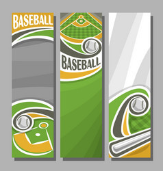 vertical banners for baseball vector image