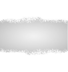 white snow on gray design for merry christmas vector image vector image