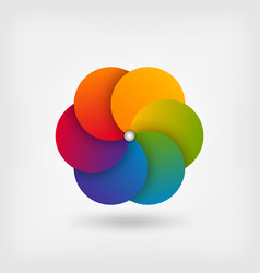 abstract circle symbol in rainbow colors vector image vector image