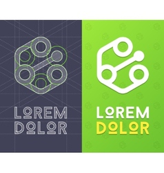 Abstract icon for company with scheme vector image