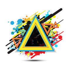 abstract triangle background design vector image