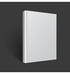blank book mockup vector image