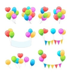 Cartoon balloon set vector image vector image