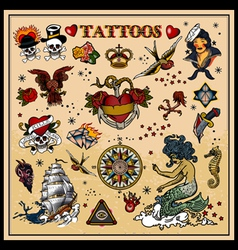 classic tattoos vector image