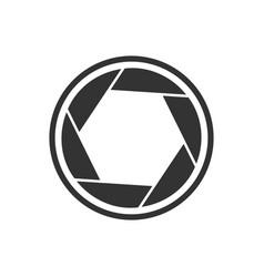 shutter simple basic shape symbol vector image