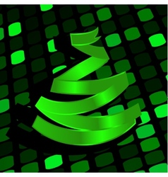 Festive background with green Christmas-tree made vector image